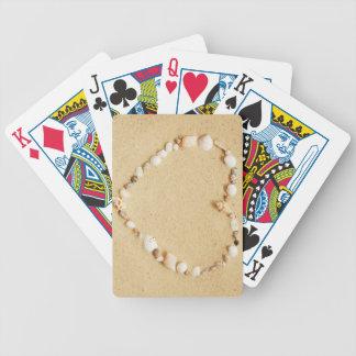 Corazón del Seashell Cartas De Juego