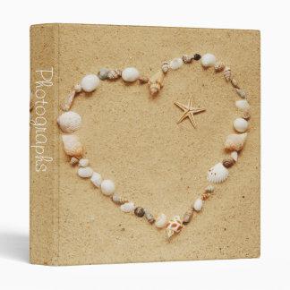 """Corazón del Seashell con las estrellas de mar 1"""" á"""