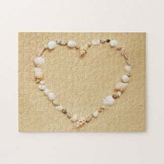 Corazón del Seashell Rompecabeza