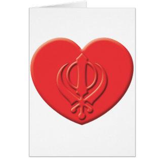 Corazón del Sikhism Tarjeta De Felicitación