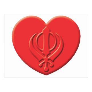 Corazón del Sikhism Tarjetas Postales