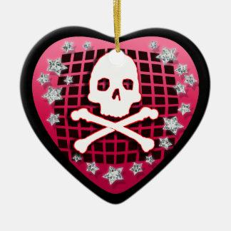corazón del skullie ornamentos de reyes