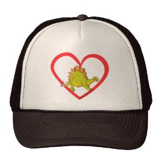 Corazón del Stegosaurus Gorros