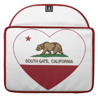 corazón del sur de la puerta de la bandera de Cali Fundas Para Macbook Pro