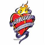 Corazón del tatuaje de ADHD Esculturas Fotográficas