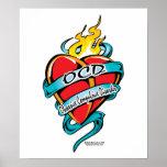 Corazón del tatuaje de OCD Impresiones