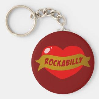 Corazón del tatuaje del Rockabilly Llavero Personalizado