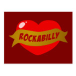 Corazón del tatuaje del Rockabilly Postal