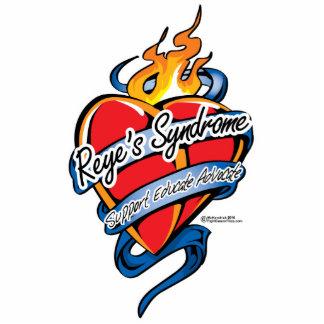 Corazón del tatuaje del síndrome de Reye Fotoescultura Vertical