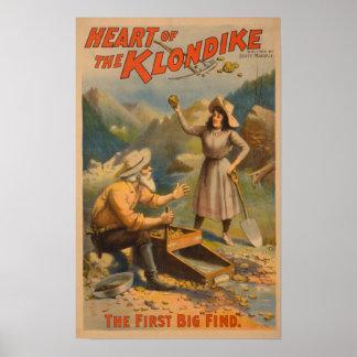 Corazón del teatro de la minería aurífera de Klond Impresiones