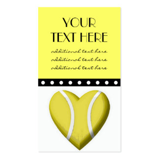 Corazón del tenis tarjetas de visita