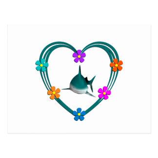 Corazón del tiburón postales