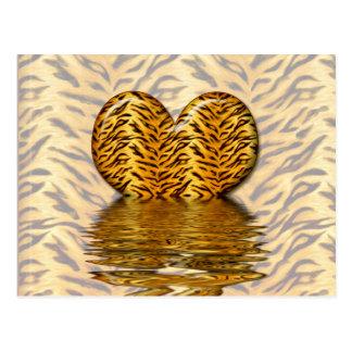 Corazón del tigre postales