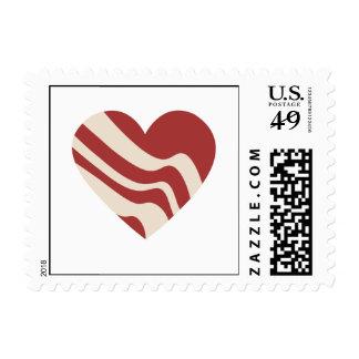 Corazón del tocino sello postal
