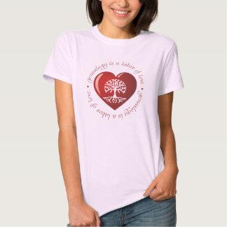 Corazón del trabajo de amor camisas