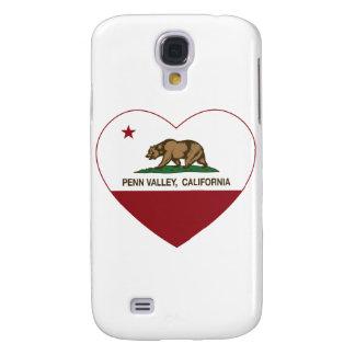 corazón del valle del penn de la bandera de Califo Funda Para Galaxy S4