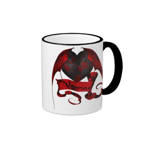Corazón del vampiro taza de dos colores