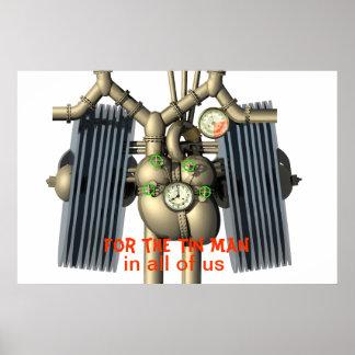 Corazón del vapor y poster punkyes de los pulmones póster
