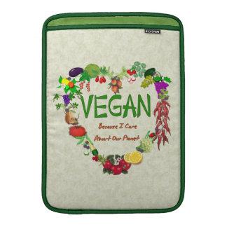 Corazón del vegano fundas macbook air