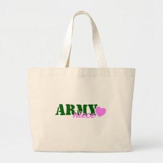 Corazón del verde de la sobrina del ejército bolsas