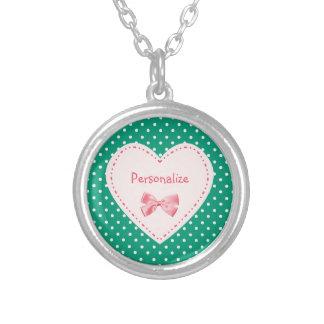 Corazón del verde esmeralda con nombre grimpola personalizada