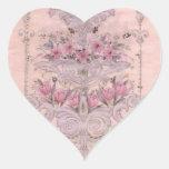 Corazón del vintage calcomania corazon