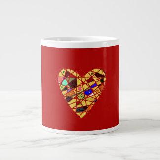 Corazón del vintage tazas jumbo