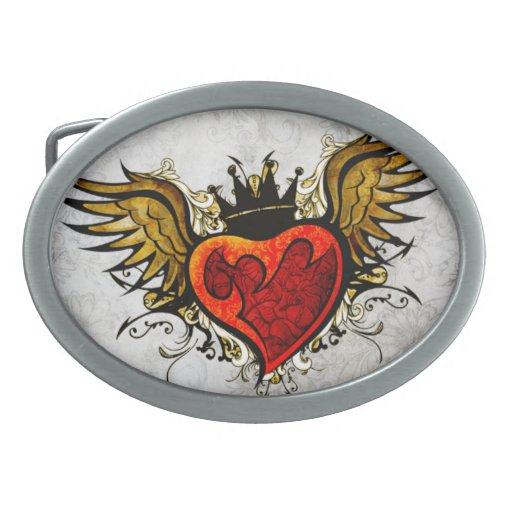 Corazón del vintage y hebilla del cinturón del Flo Hebillas Cinturón