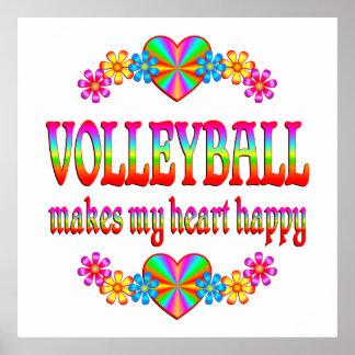Corazón del voleibol feliz poster