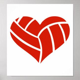 Corazón del voleibol posters