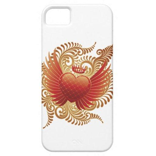 Corazón del vuelo iPhone 5 protectores