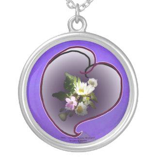 corazón del wildflower colgante redondo