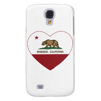 corazón del windsor de la bandera de California