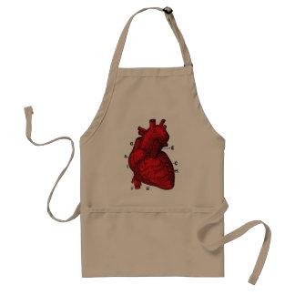 corazón delantal