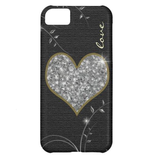 corazón delicado del amor para los chicas funda para iPhone 5C