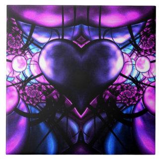Corazón delicado del escorpión azulejo ceramica