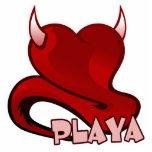 Corazón diabólico del jugador de Playa Esculturas Fotográficas