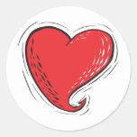 corazón diabólico etiqueta