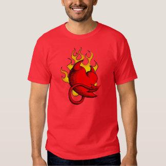 Corazón diabólico polera