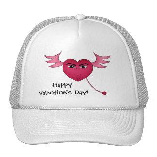 Corazón divertido del el día de San Valentín con l Gorra