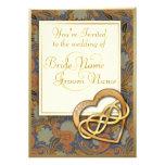 Corazón doble 1 del oro del infinito - el boda inv