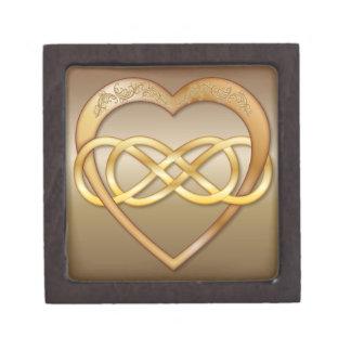 Corazón doble 8 del oro del infinito - caja de reg cajas de joyas de calidad