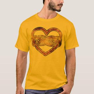 Corazón doble del infinito del símbolo bicolor playera