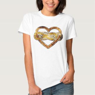 Corazón doble del infinito del símbolo bicolor playeras