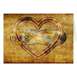 Corazón doble del infinito del símbolo bicolor tarjetas