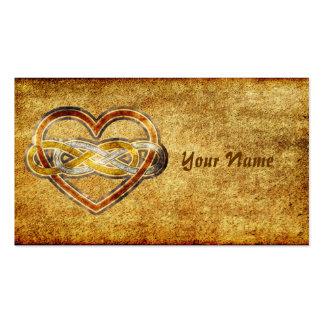 Corazón doble del infinito del símbolo bicolor tarjetas de visita