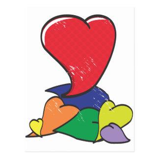 Corazón egoísta postal