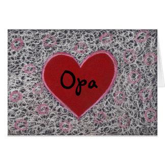 Corazón, el día de padre feliz Opa Tarjeta De Felicitación