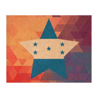 Corazón elegante de la bandera de Honduras Impresión En Corcho