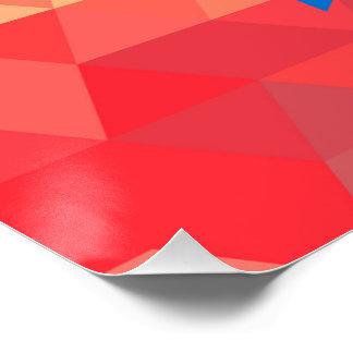 Corazón elegante de la bandera de Honduras Perfect Poster